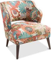 Sienna Armless Floral Mod Chair, Quick Ship