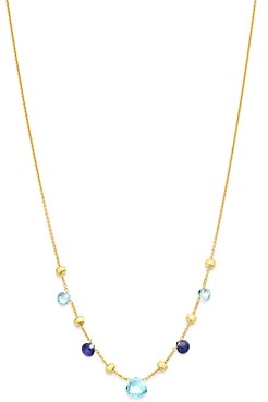 Marco Bicego 18K Yellow Gold Paradise Iolite & Blue Topaz Charm Necklace, 16.5 - 100% Exclusive