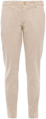 7 For All Mankind Roxanne Sateen Slim-leg Pants