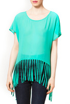 Naked Zebra Spring Fringe Crop Top