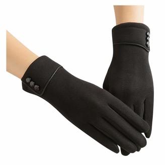 xuebinghualoll Women Touch Screen Gloves Warm Lined Thick Warmer Winter Gloves