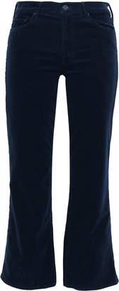 Mother Cropped Cotton-blend Corduroy Bootcut Pants