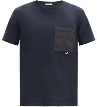 Moncler Pocket-loop Cotton-jersey T-shirt - Navy