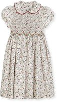 Luli & Me Cap-Sleeve Floral Smocked Dress, Size 2-6X