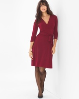 Soma Intimates 3/4 Sleeve Wrap Dress Wine