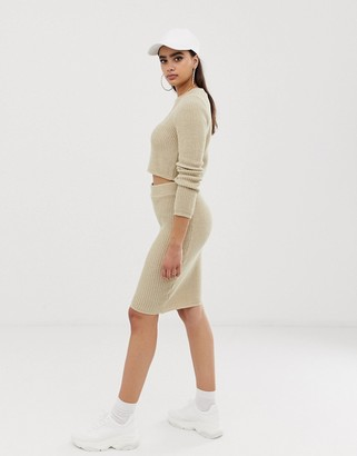 Asos DESIGN co-ord pencil skirt in knit
