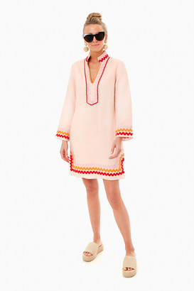 Sail to Sable Blush Long Sleeve Sunset Tunic Dress