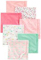 Simple Joys by Carter's Baby Girls' 7-Pack Flannel Receiving Blanket