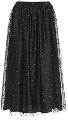 RED Valentino Dotted tulle midi skirt