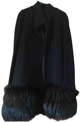 Twin-Set Twin Set Black Mink Coat for Women