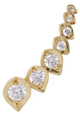 Ila Stella Wing 14K Yellow Gold & 0.33 Total Ct. Diamond Ear Climber, Left