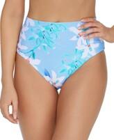 Thumbnail for your product : Raisins Juniors' Printed Summer Bloom High-Waist Tropics Bikini Bottoms Women's Swimsuit