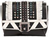 Paula Cademartori Alice Studded Leather Bag W/ Fringe