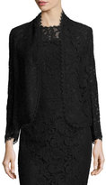 Escada Eve Lace 3/4-Sleeve Jacket, Black