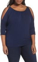 MICHAEL Michael Kors Plus Size Women's Chain Neck Cold Shoulder Top