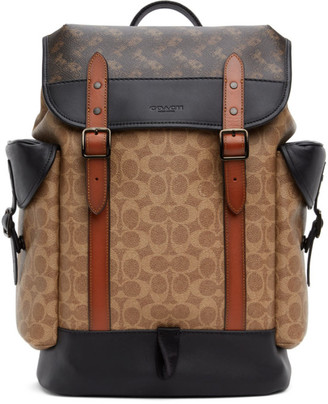 Coach 1941 Tan Horse and Carriage Hitch Backpack