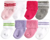 Luvable Friends 8-Pack Newborn Baby Socks, Girl ,0-6 Months