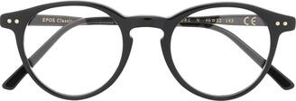 Epos Polished Round-Frame Glasses