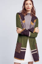 Angel Of The North Mixed-Stripe Wool Cardigan