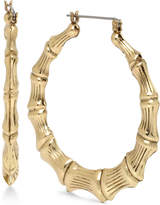 Betsey Johnson Gold-Tone Bamboo-Style Hoop Earrings