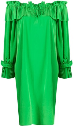 P.A.R.O.S.H. Pleated Trim Midi Dress