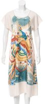 Hermes Mythiques Phoenix Silk Wool Dress