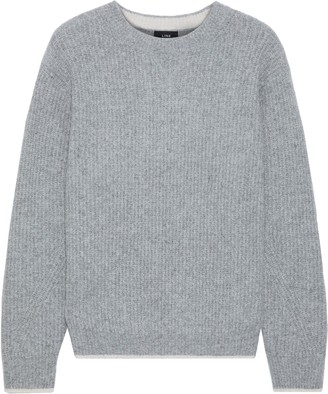 Line Ribbed Merino Wool-blend Sweater