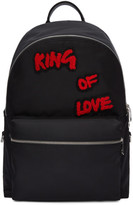 Dolce and Gabbana Black king Of Love Backpack