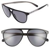 Burberry Women's 58Mm Polarized Aviator Sunglasses - Black/ Polar