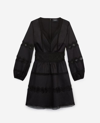 The Kooples Short black dress with lace detailing