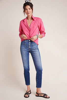 AG Jeans The Stevie High-Rise Skinny Ankle Jeans By in Blue Size 25