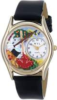 Whimsical Watches Women's C0610032 Classic Gold Nurse Purple Black Leather And Goldtone Watch