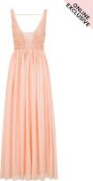 Little Mistress Pink Tulle Maxi Dress
