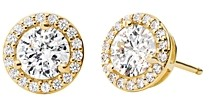 Michael Kors Sterling Silver Pave Stud Earrings in 14K Gold-Plated Sterling Silver, 14K Rose Gold-Plated Sterling Silver or Solid Sterling Silver