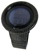 Gucci Digital 32 Ct Black Diamond Watch