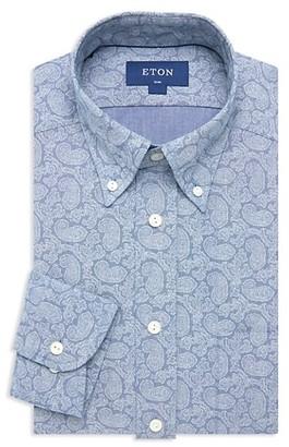 Eton Soft Casual Slim-Fit Paisley Chambray Shirt