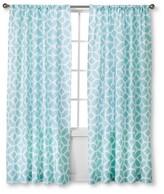 Nobrand No Brand Modern Geo Helix Curtain Panels