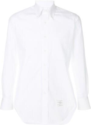 Thom Browne Solid Poplin Dress Shirt