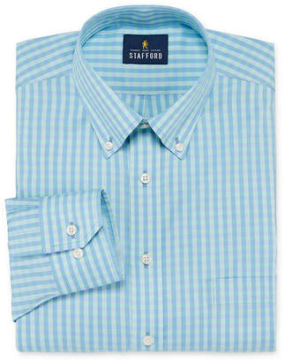 Stafford Mens Wrinkle Free Cotton Pinpoint Oxford Button Down Collar Dress Shirt