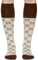 Gucci Beige Knee-high Gg Socks
