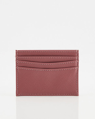 Le Château Saffiano Faux Leather Card Holder