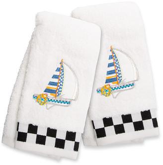 Mackenzie Childs Sail Away Fingertip Towels Set Of 2