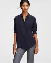 Ann Taylor Tall Silk Shirt