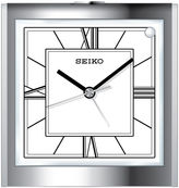 Seiko Bedside Alarm With Beep Alarm And Dial Light Silver Tone Clock Qhe123slh
