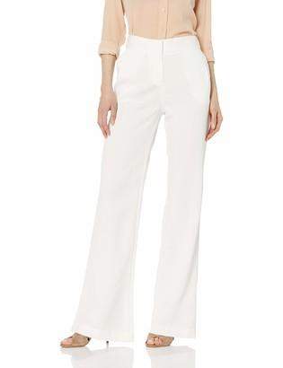 Halston Women's Wide-Leg Crinkle Crepe Pant
