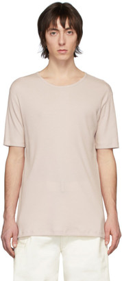 Lemaire Pink Rib Knit T-Shirt