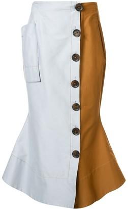 Rachel Gilbert Rian asymmetric skirt