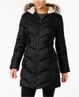 Larry Levine Faux-Fur-Trimmed Quilted Puffer Coat