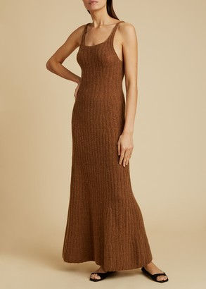 KHAITE The Beryl Knit Dress in Mocha