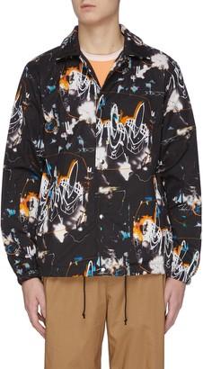 Comme des Garçons Shirt x Futura printed fleece lined coach jacket